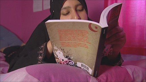 Mina Bint Mohammad reading