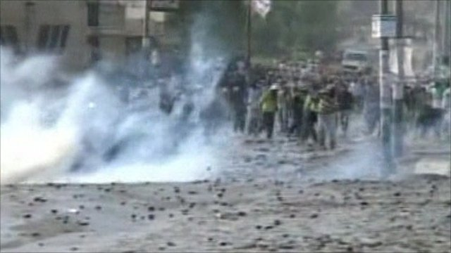 Police use tear gas to disperse protesters
