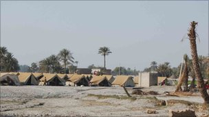 Tents for flood victims in Punjab