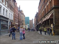 The Captain America set on Dale Street