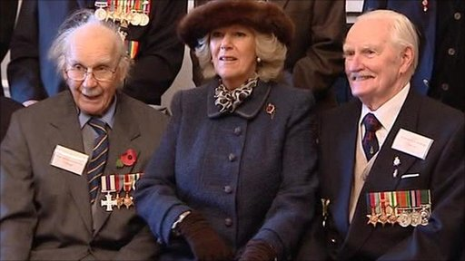 Duchess of Corwall with Desert Rats