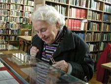 Renate Ellis Jones at Bangor University library