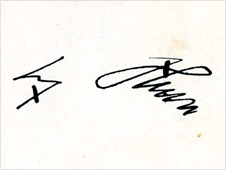 Hitler's signature on the letter