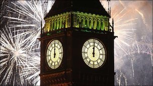 London celebrates new year
