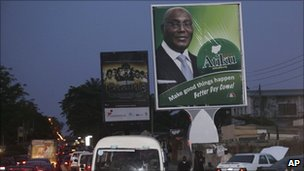 A campaign billboard for Atiku Abubakar
