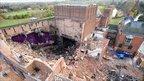 Demolition of the original auditorium