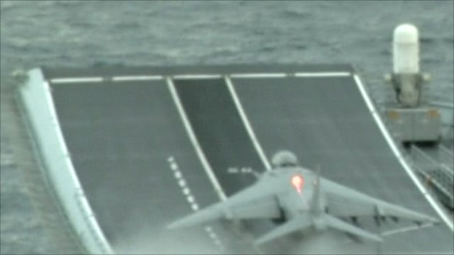 Harrier leaves Ark Royal