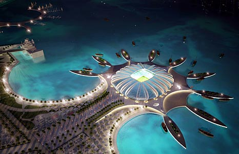 The Doha Port Stadium - an artist's impression