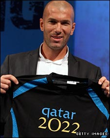 Zinedine Zidane is an official ambassador for the Qatar bid