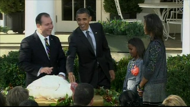 President Obama and the Thanksgiving turkey