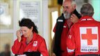 Red Cross officials in Greymouth