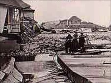 Damage in Sutton on Sea after the 1953 floods