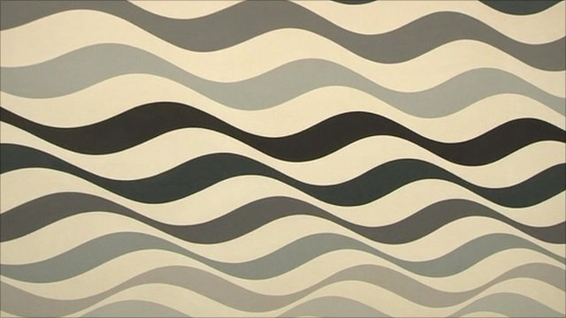 Bridget Riley painting