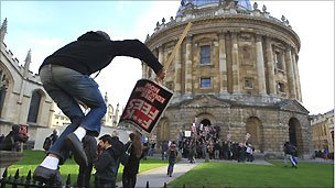 Student protester at Oxford