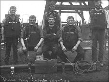 The Kemberton mine rescue team in 1913:picture courtesy of Ironbridge Gorge Museum