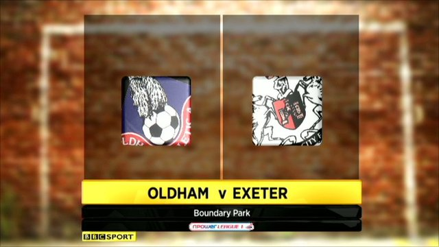 Highlights - Oldham 3-3 Exeter
