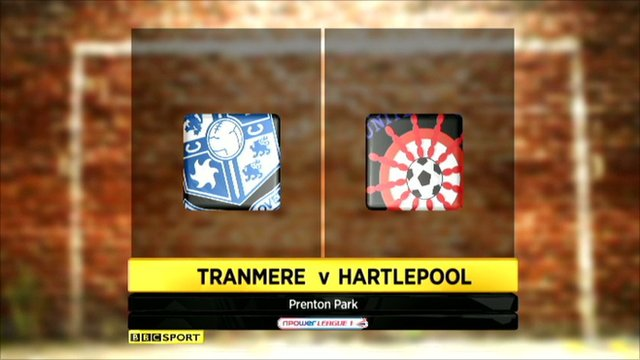 Highlights - Tranmere 0-1 Hartlepool