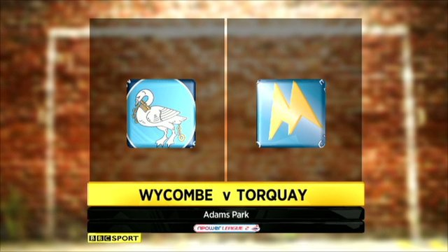 Highlights - Wycombe 1-3 Torquay