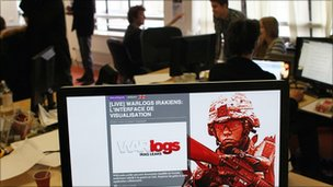 War Logs website that organised some of the earlier Wikileaks