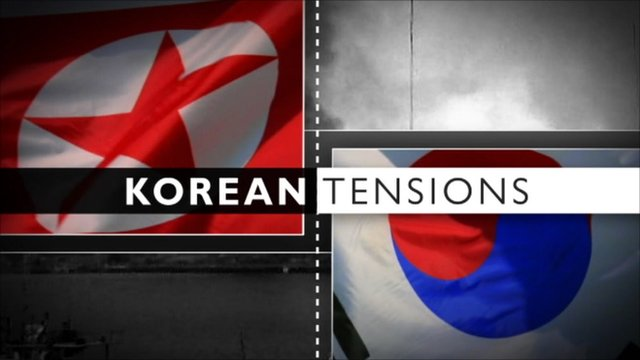 Korea tensions graphic