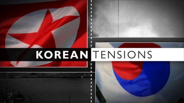 Korea tensions graphic