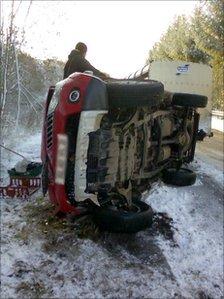 A68 crash - Pic: John Easton