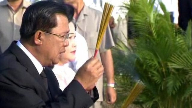 Prime Minister Hun Sen at the ceremony
