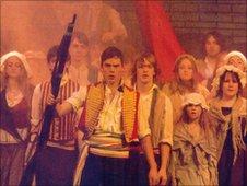 Sam Claflin in NTMT's Les Miserables production