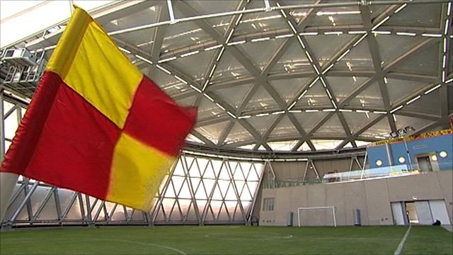 One of the new stadiums built in Qatar