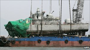 File image of the Cheonan, which sank off Baegnyeong island on 26 March 2010