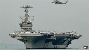 The USS George Washington in Manila, the Philippines - 4 September 2010