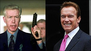 Gray Davis and Arnold Schwarzenegger