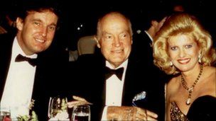 Donald Trump, Bob Hope and Ivana Trump