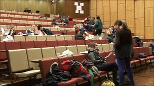 Students in the lecture theatre