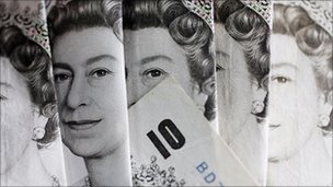 Ten pound notes