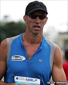 Ian Jones comepetes in a 2008 triathlon event