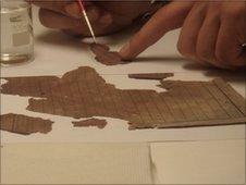 Restoration work of the 1851 census