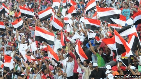 Thousands of Yemenis at first match