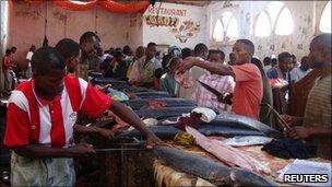Hamarweyne market in southern Mogadishu