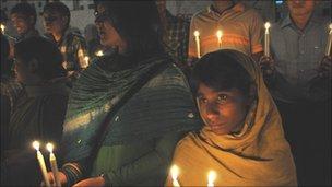 Candlelit vigil on Dhaka University campus