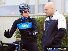 Bradley Wiggins and Dave Brailsford