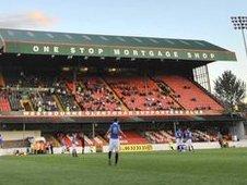 Oval stadium in east Belfast