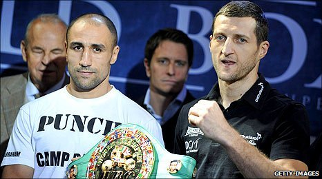 Arthur Abraham (left) and Carl Froch