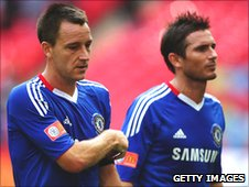 John Terry (left) and Frank Lampard (right)