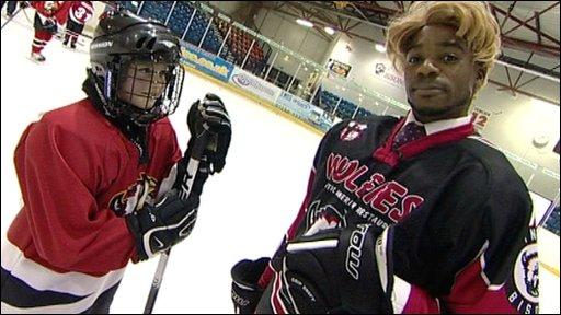 Chad tries Ice Hockey
