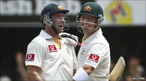 Mike Hussey and Brad Haddin
