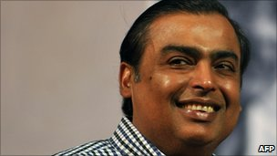 Indian billionaire tycoon Mukesh Ambani