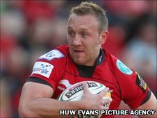Morgan Stoddart crossed the Aironi try-line twice for the Scarlets