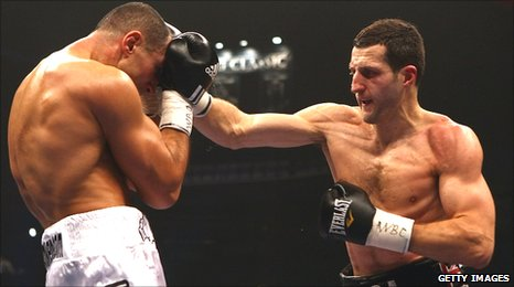 Carl Froch (right) and Arthur Abraham