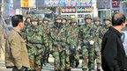 South Korean troops in Taean, 170km south-west of the capital, Seoul